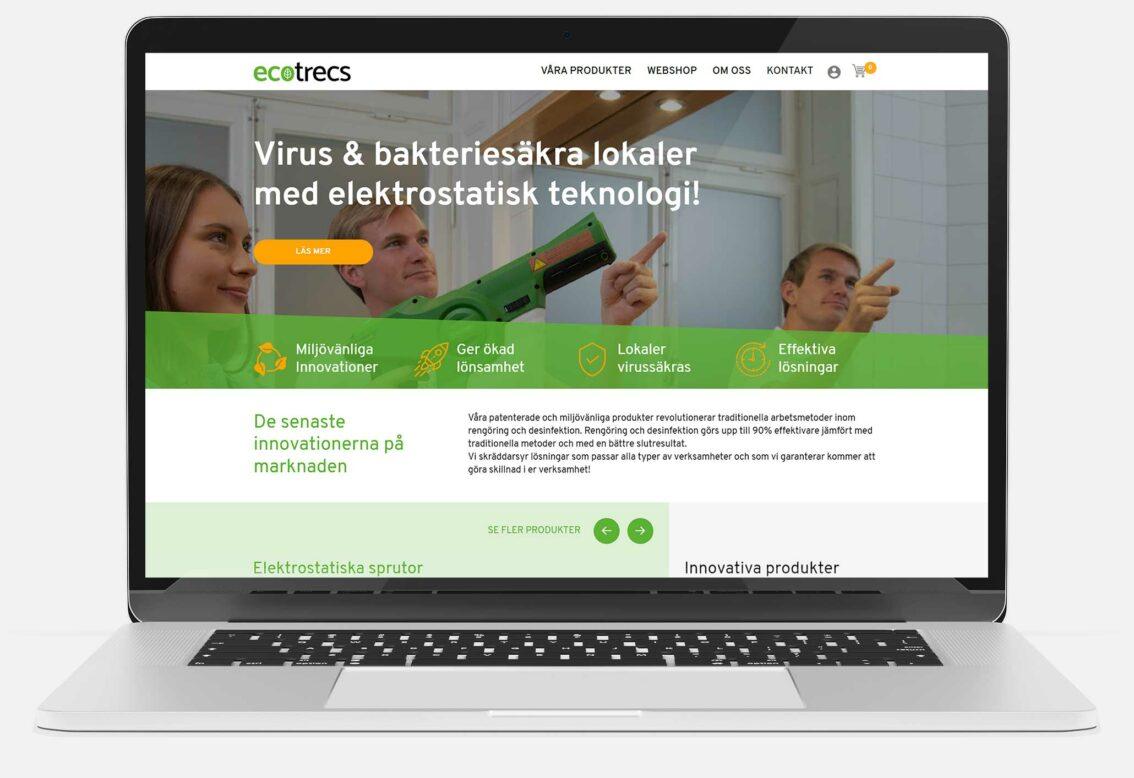 Ecotrecs websida